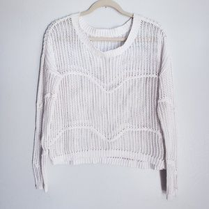 VANS White Loose Chunky Knit Sweater Size Medium